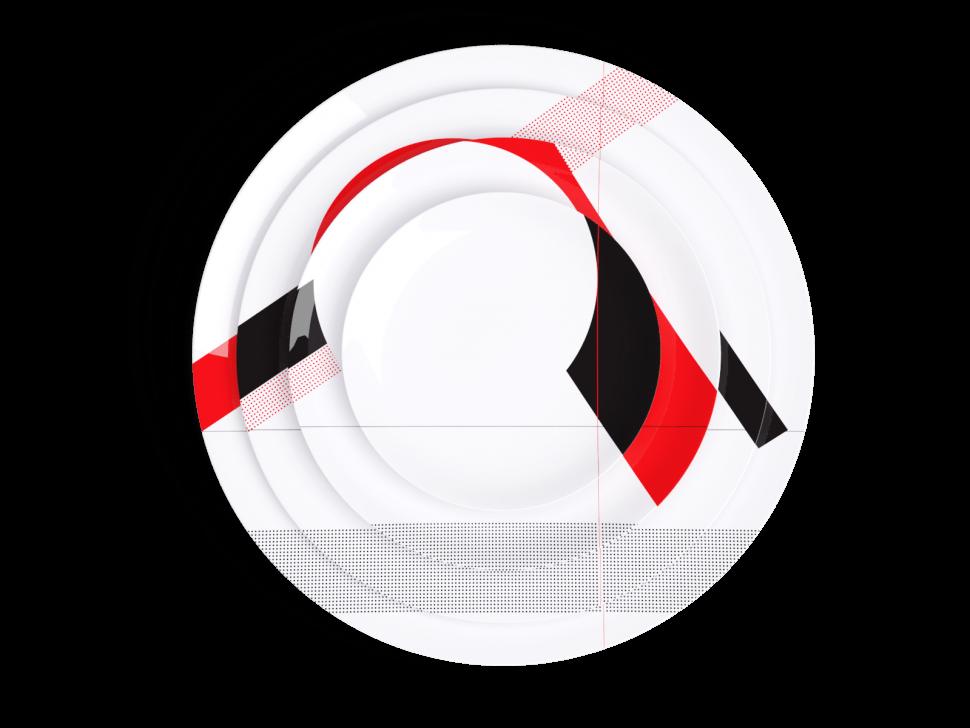 Non Sans Raison - axo-empile assiette porcelaine de limoges