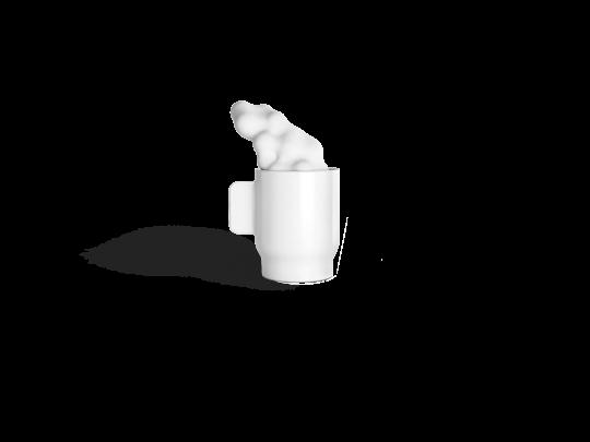 tasse nuage non sans raison porcelaine de limoges
