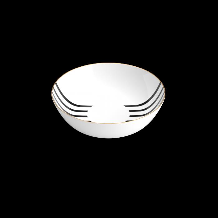 assiette creuse, teatro, noir et blanc, non sans raison, porcelaine de Limoges