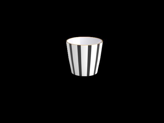 timbale teatro, noir et blanc, non sans raison, porcelaine de Limoges