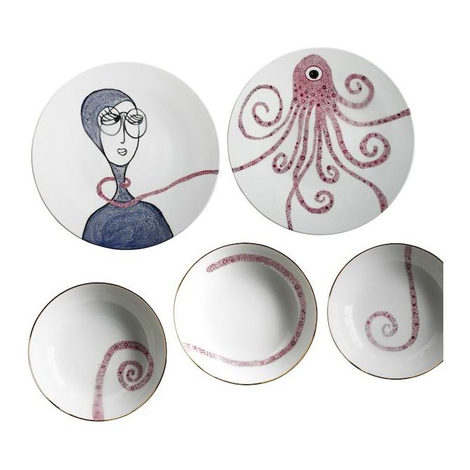 pack aperitif, polipo, non sans raison, porcelaine de Limoges