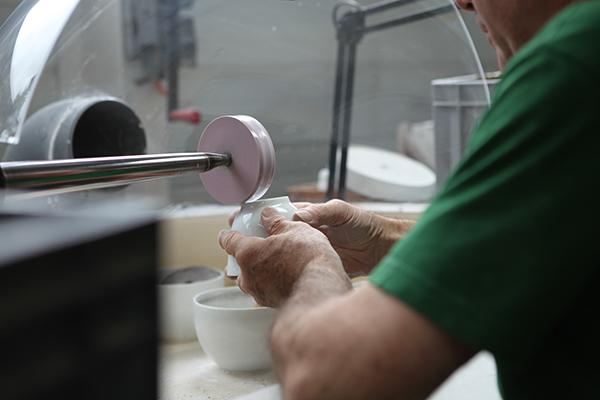 Manual polishing