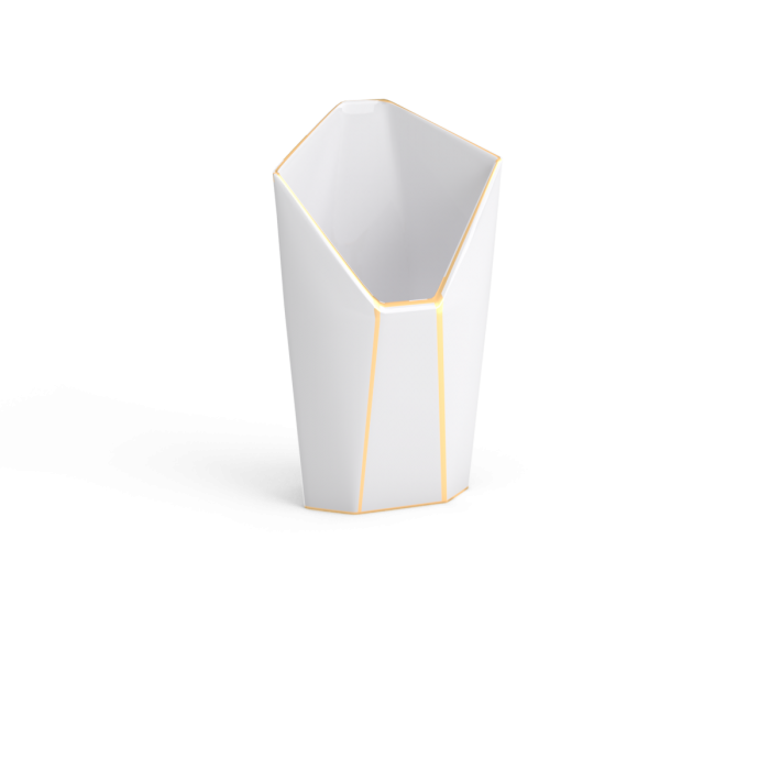 cornet or non sans raison porcelaine de limoges