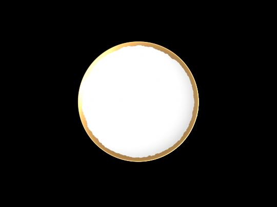 collection odissey assiette dessert or non sans raison porcelaine de limoges