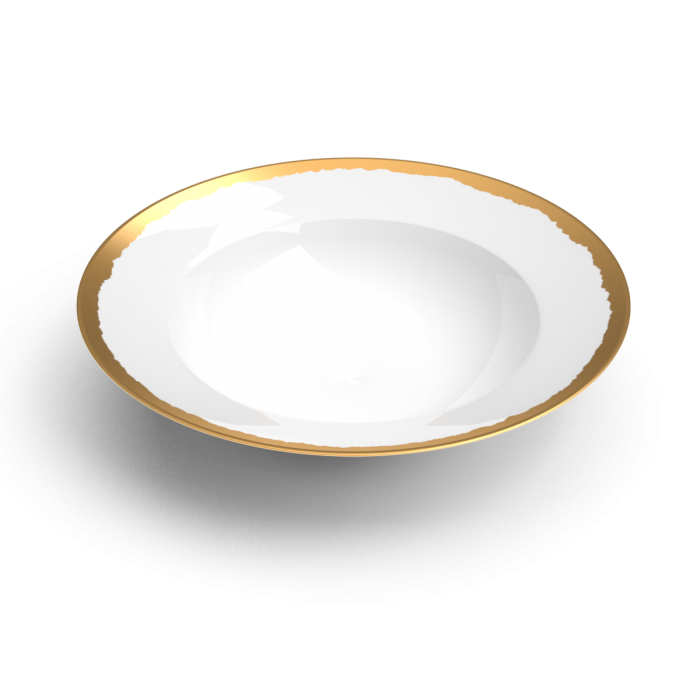 collection odissey assiette or non sans raison porcelaine de limoges