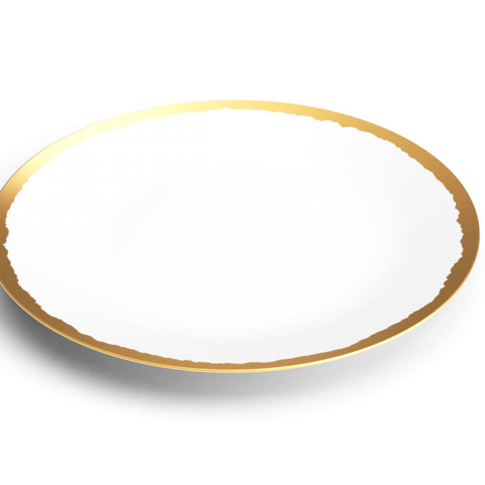 collection odissey assiette presentation or non sans raison porcelaine de limoges