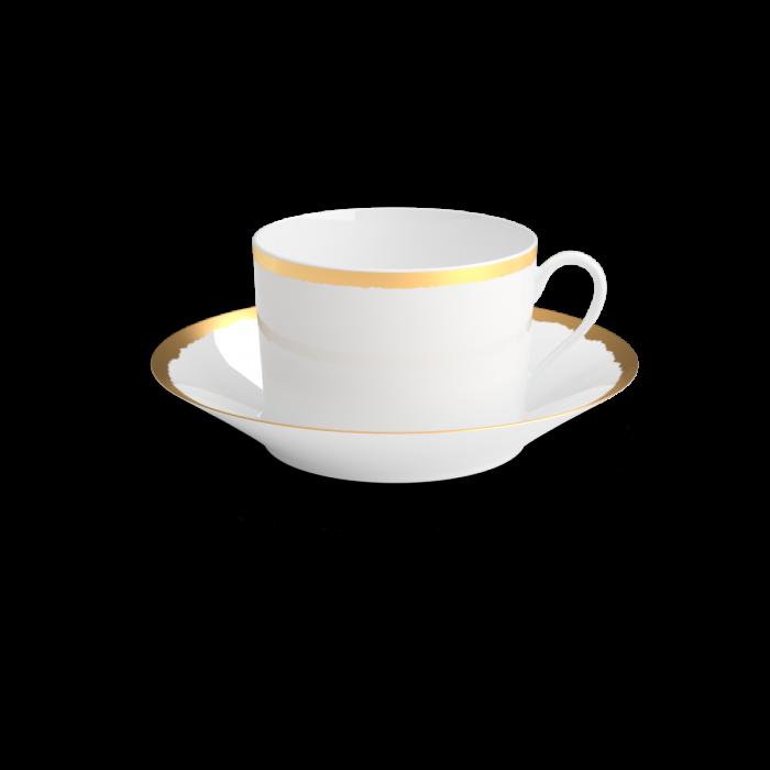 collection odissey tasse déjeuner or non sans raison porcelaine de limoges