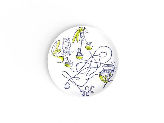 assiette à dessert en porcelaine de limoges à table