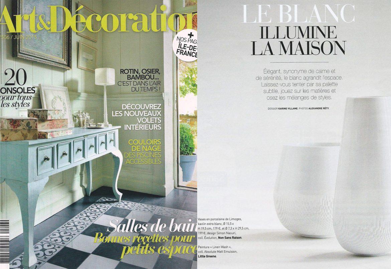 Art Et Decoration Juin 2017 art & décoration - non sans raison