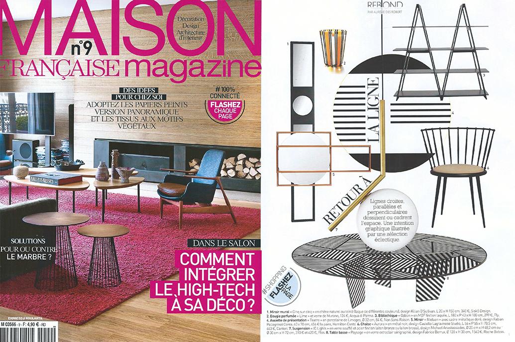 maison fran aise magazine non sans raison. Black Bedroom Furniture Sets. Home Design Ideas
